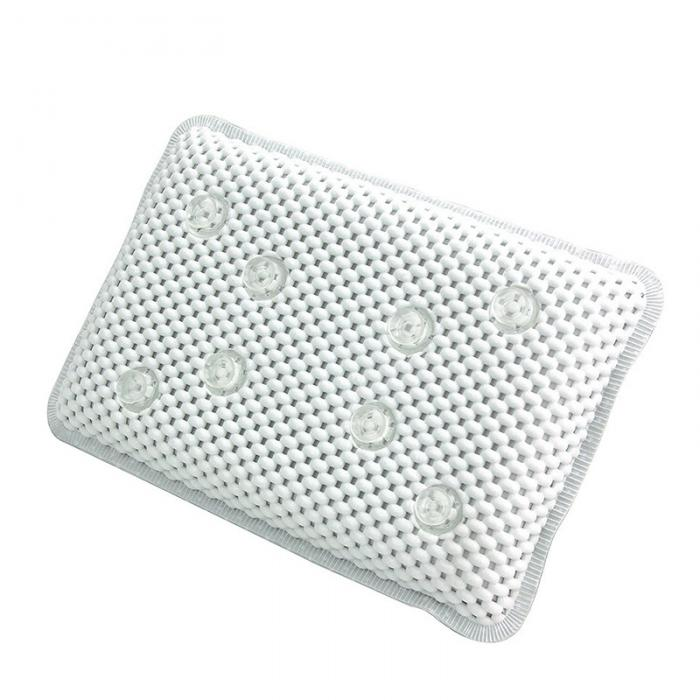 Spa Bath Pillow With Suction Cup Non-Slip Head Shoulder Neck Support Mesh Tub Pillows