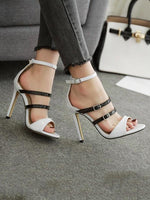 Solid Colors Bandge High Heels