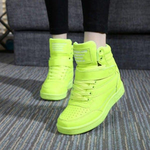 Breathable Height Increase Women Outdoor Sports Shoes