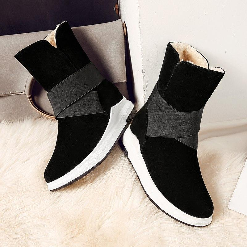 Casual Fashion Flat Warm Snow Boots For Women