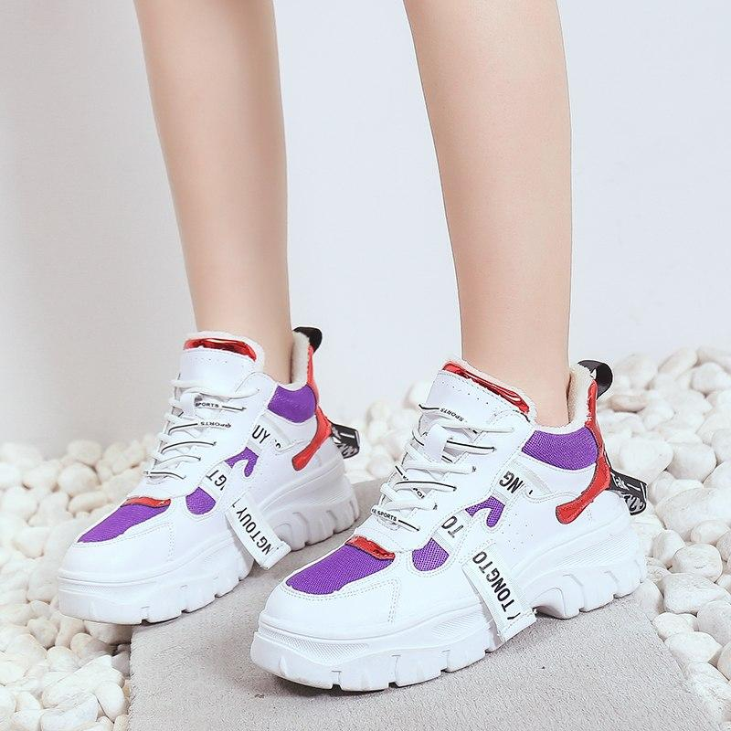 Spring/Autumn Women 2019 New Plush Warm Shoes Harajuku Clunky Sneakers