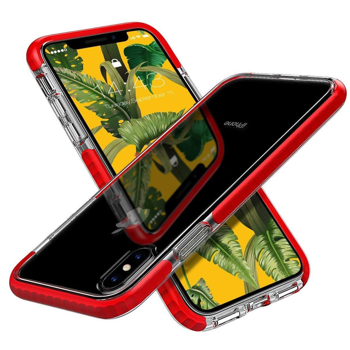 Anti-Scratches Shockproof Bumper iPhone Xs Max Case - Red - MPC - MyPhoneCase.com