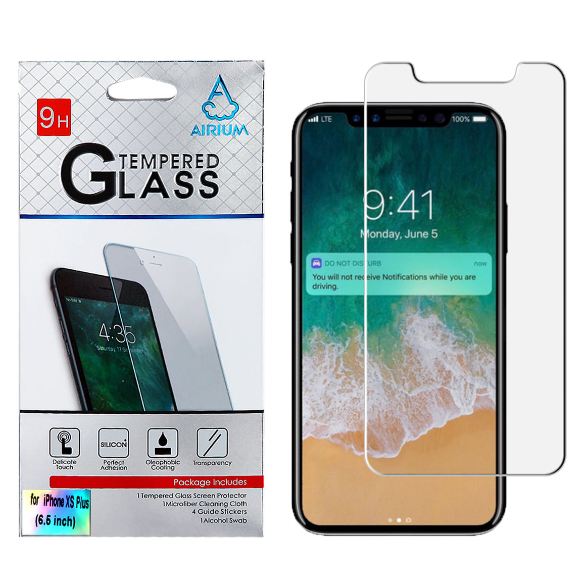 "Tempered Glass Screen Protector for iPhone Xs Max (6.5"") - MPC - MyPhoneCase.com"