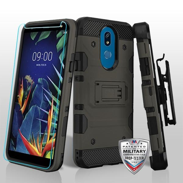 Storm Tank 3-in-1 LG K40 Case Holster - Dark Grey - MPC - MyPhoneCase.com