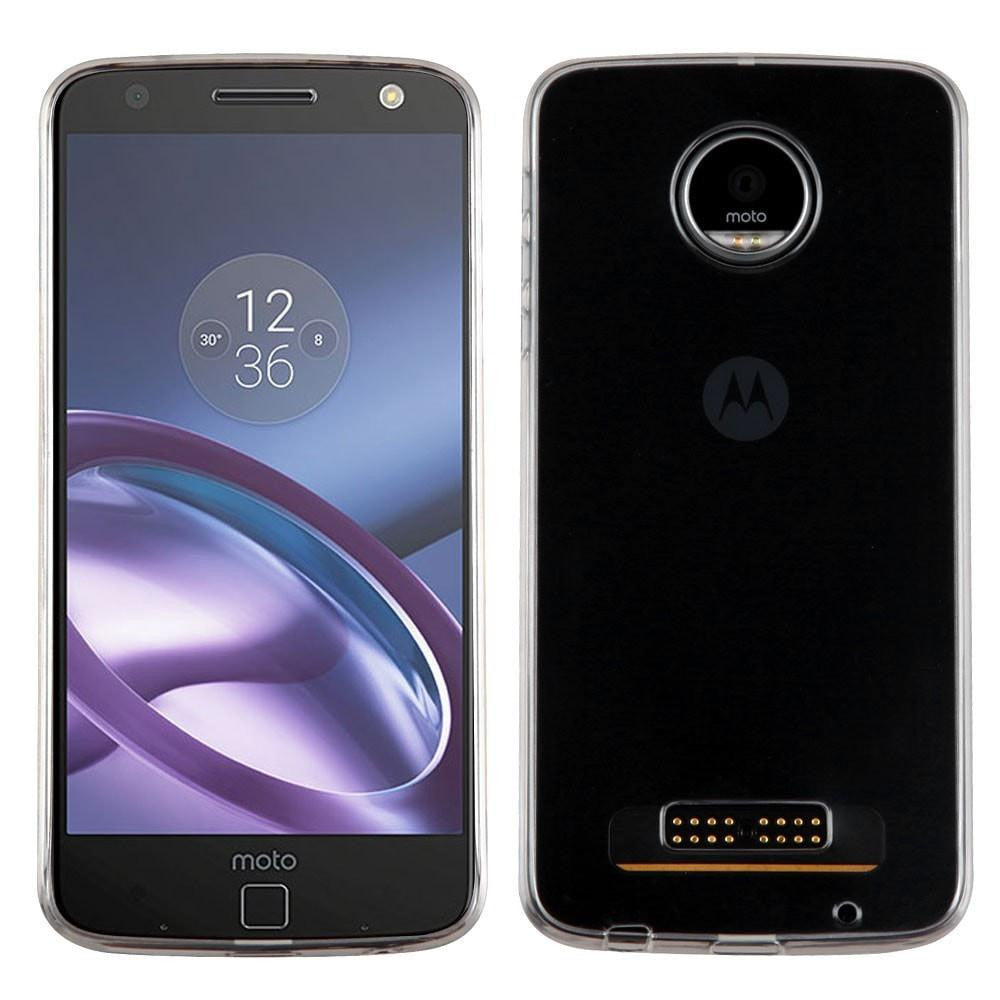 MYBAT Glossy Transparent Candy Skin Moto Z Play Case - Clear - MPC - MyPhoneCase.com