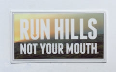 Run Hills matte sticker
