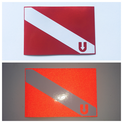 UDiver Down Reflective Sticker
