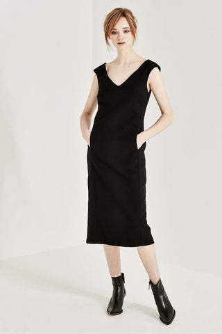 Shjark Skylark Dress - Black Crinkle