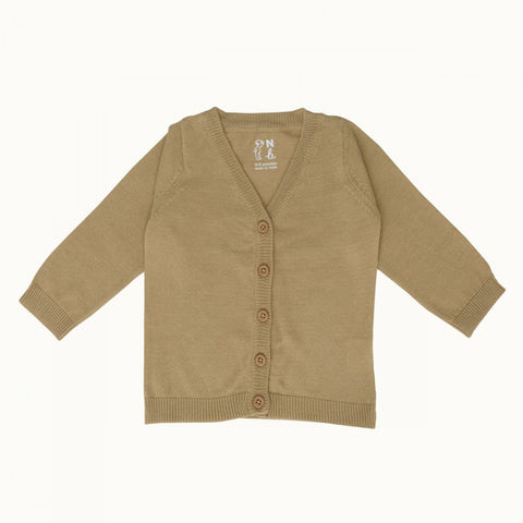 Nature Baby Light Cotton Knit Cardigan - Honey