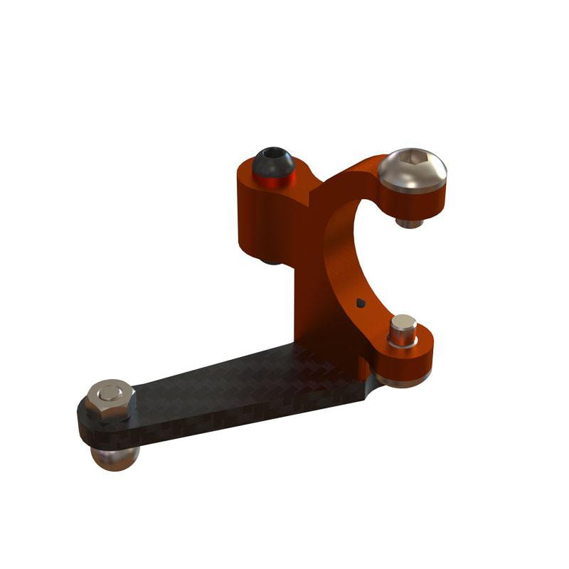 OSP-1140 - OXY3 CNC Alu Tail Bell Crank, Orange