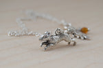 Swift Fox Necklace - Enchanted Leaves - Nature Jewelry - Unique Handmade Gifts