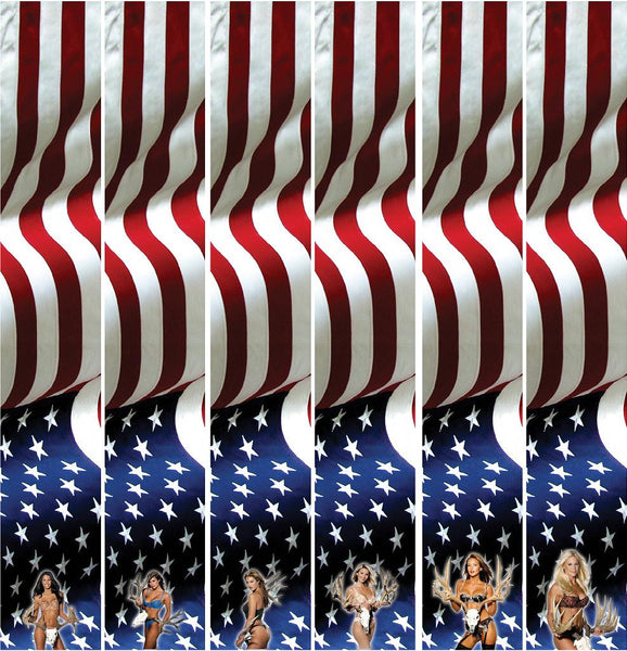Missouri Archery Arrow Wraps Bikini Girls American Flag 9021 1-Dozen