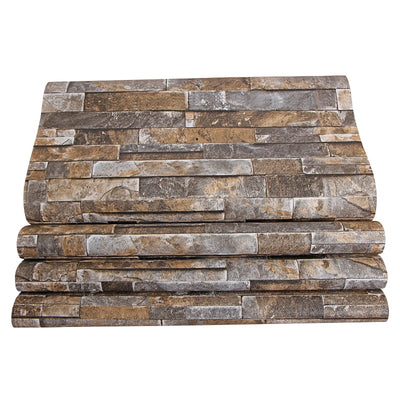 3D Stereoscopic Faux Stone Brick Wall Wallpaper For Walls 3 D Living Room Background Vinyl Wallpaper