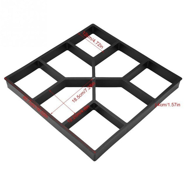 Garden Walk Pavement Mold DIY Manually Paving Cement Brick Stone Road Concrete Molds Path