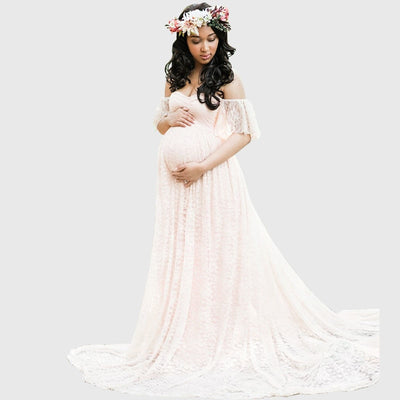 Long Maternity Photography Props Pregnancy Dress Photography Maternity Dresses - CarGill Sells