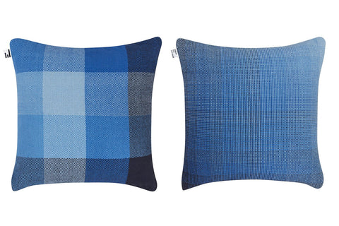 GRADIENT & SQUARES BLUE GIANT - CUSHION COVER
