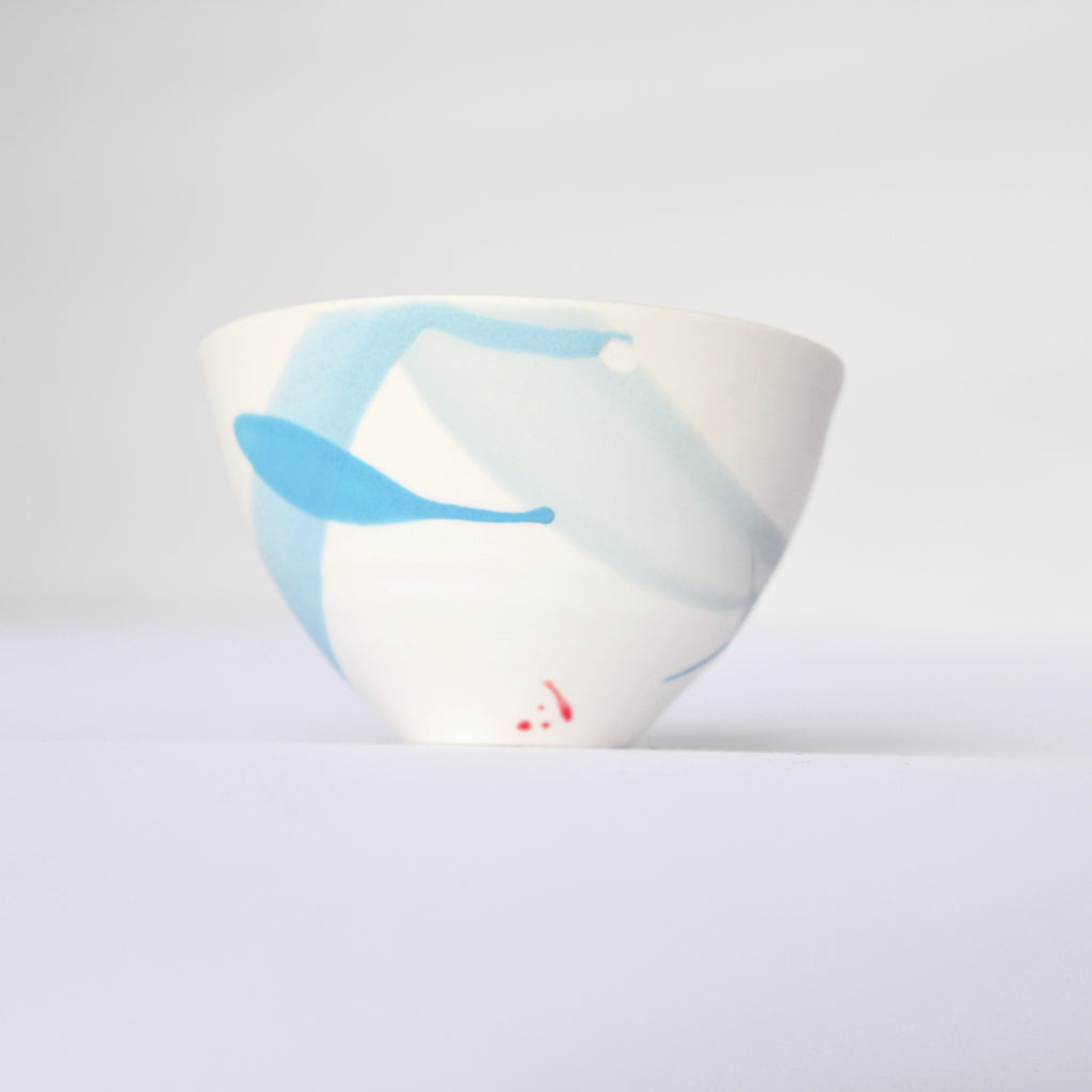Blue splash  Porcelain bowl