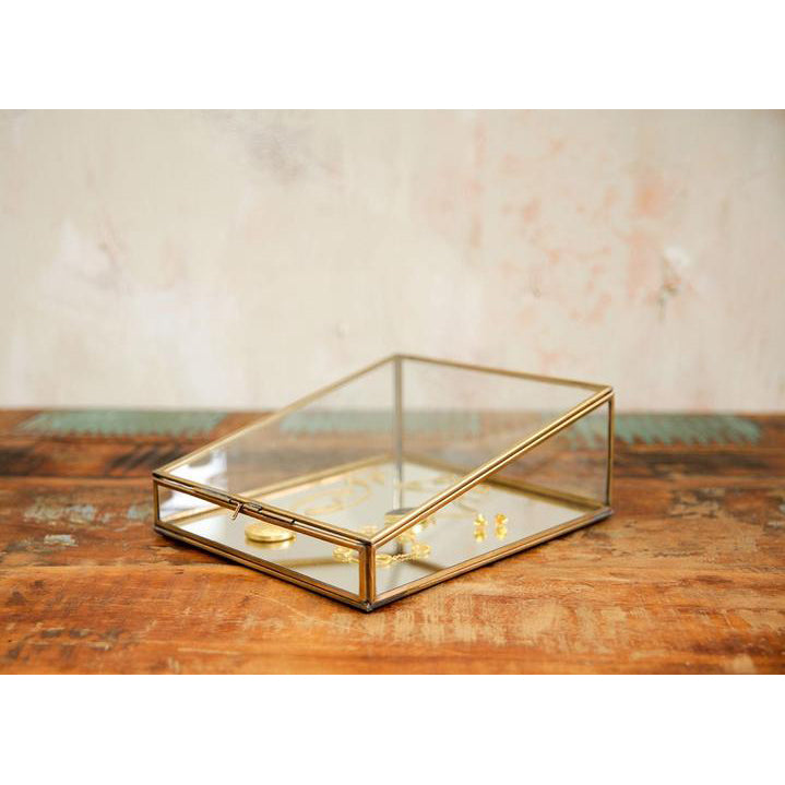 Brass & Glass Jewellery Box