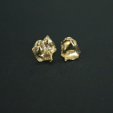 Gold Plated Organic Cast Studs Large