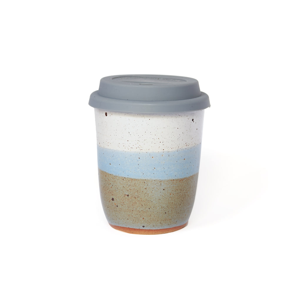 Hazy Skyline Dipped Travel Mug