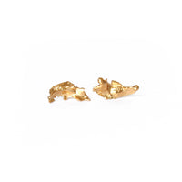 Gold Plated Cast Studs, Large