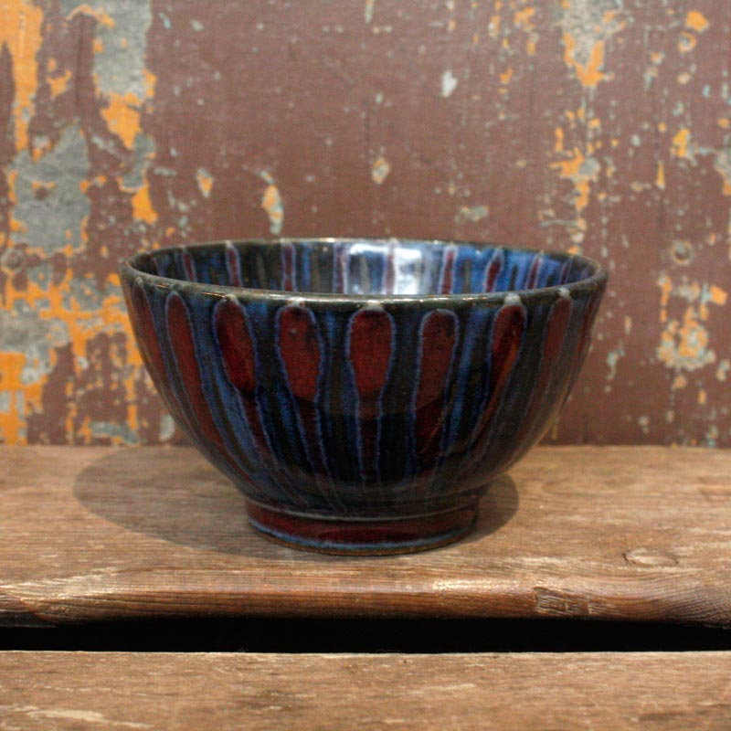 Blue & Red Stripe Dish