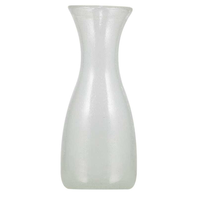 1 Litre Pearl White Handmade Glass Carafe