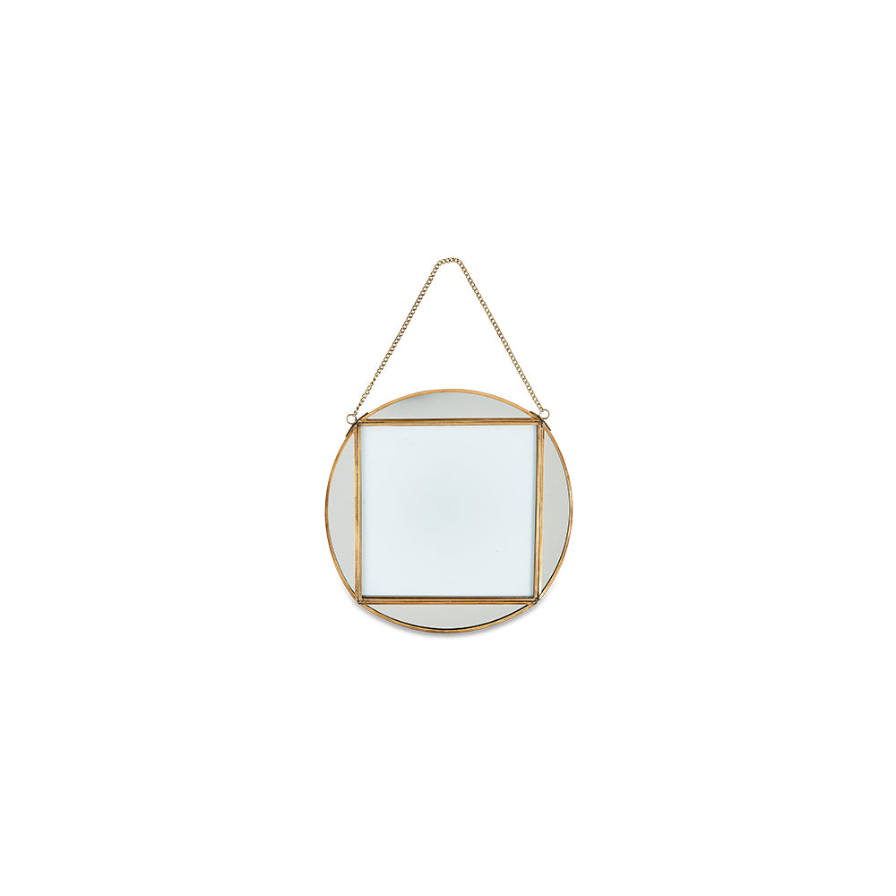 "Teema- Round Frame in Antique Brass Large 8""x8"""