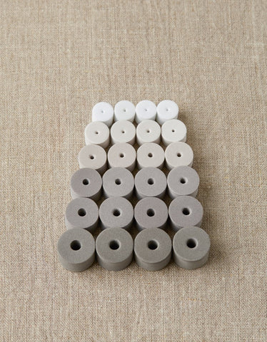 Cocoknits Mixed Stitch Stoppers - Greys - Tools - Cocoknits