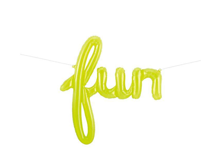 """Fun"" Script Lime Green"