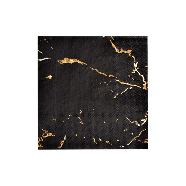 Black Marble Napkins Small