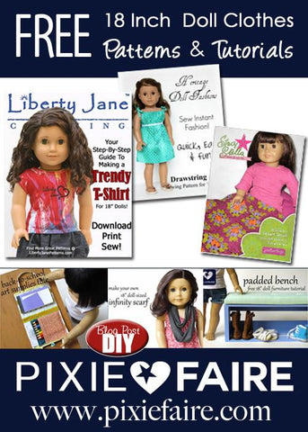 Free 18 inch doll clothes patterns and tutorials Pixie Faire