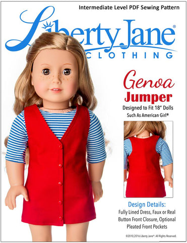 "Genoa Jumper 18"" Doll Clothes Pattern"