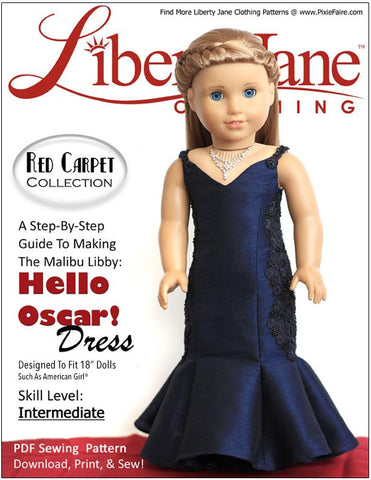 "Hello Oscar Dress 18"" Doll Clothes Pattern"
