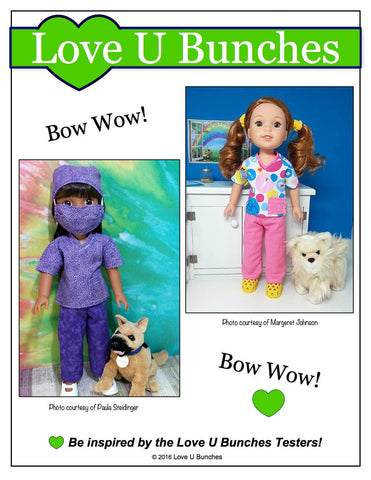 "Scrubs 14.5"" Doll Clothes Pattern"