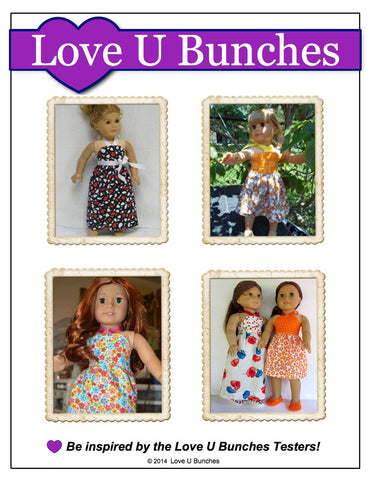 "Simply Summer Sundress 18"" Doll Clothes Pattern"