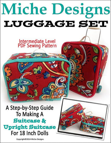 "Luggage Set 18"" Doll Accessories"