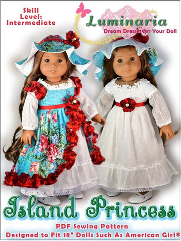 "Island Princess 18"" Doll Clothes Pattern"