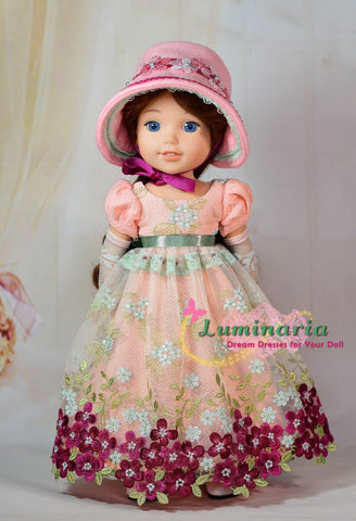 PDF doll clothes sewing pattern Luminaria Designs Sense & Sensibility designed to fit 14.5 inch Welliewishers dolls