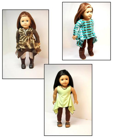 "Twirly Tunic 18"" Doll Clothes Pattern"
