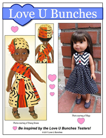 "Princess Anya 14.5"" Doll Clothes Pattern"
