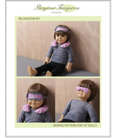 "Relaxation Kit 18"" Doll Accessory Pattern"