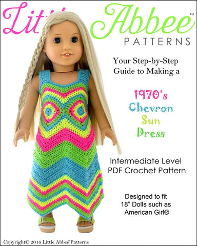 1970's Chevron Sun Dress Crochet Pattern