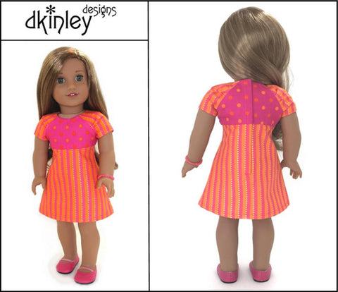 "Energy Dress 18"" Doll Clothes Pattern"