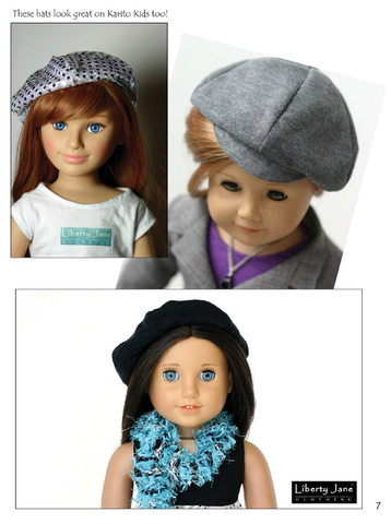 "Newsboy and Beret Hat 18"" Doll Accessories"