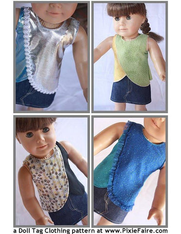 "Summer Breeze 18"" Doll Clothes Pattern"