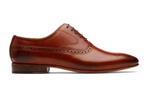 Brogue Oxford With Gimping And Medallion- Lap Tan