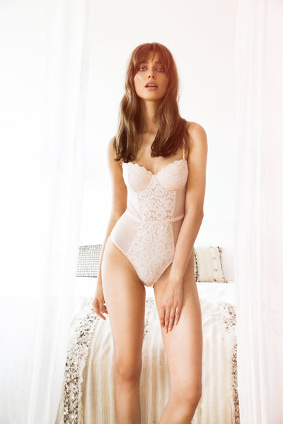 Ingrid Bodysuit - Rose - Homebodii