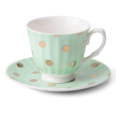 Teacup & Saucer (Duck Egg) - Homebodii