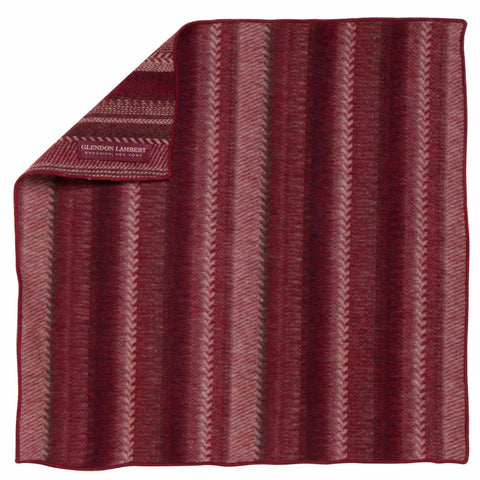 CHEVRON STRIPES POCKET SQUARE: RED